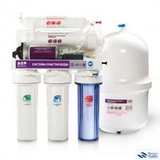 5-и стадийная система очистки воды с насосом производительность: 60 GPD мембрана CSM GRANDO 5+(RO905-550BP-EZ)