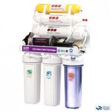 6-и стадийная система очистки воды с насосом производительность: 60 GPD мембрана CSM QM-88(RO905-650BP-EZ)