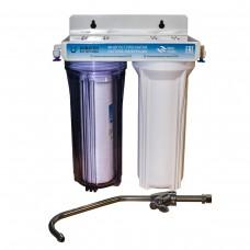 Фильтр 2 ступени (прозрачный; механическая очистка, уголь)