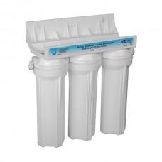 Фильтр 3 ступени (белый; механическая очистка, умягчение, уголь)