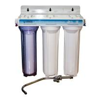 Фильтр 3 ступени (прозрачный; механическая очистка, уголь, уголь)