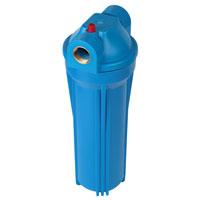 """Фильтр магистральный для холодной воды, без картриджа (синий корпус 10"""") 1/2"""""""