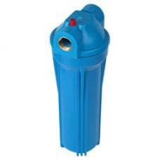 """Фильтр магистральный для холодной воды, без картриджа (синий корпус 10"""") 1"""""""