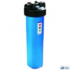 """Комплект для 1 - стадийной системы Биг Блю 20""""Синий корпус фильтра 898 со входом 1"""", сбросом давления, + мех. фильтр + металлический кронштейн + ключ + коробка; Тайвань PS898-BK1-PR"""