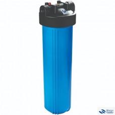 """Комплект для 1 - стадийной системы Биг Блю 20""""Синий корпус фильтра 898 со входом 1"""", сбросом давления, + мех. фильтр + металлический кронштейн + ключ + коробка; Китай PS 898-BK1-PR-BN-R"""