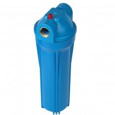 """Фильтр магистральный для холодной воды (непрозрачный синий корпус 10"""") 1/2"""" без картриджа"""