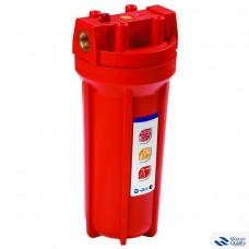 """Комплект для 1 - стадийной системы для горячей водыКорпус фильтра 891 со входом 1/2"""", сбросом давления + мех фильтр + металлический кронштейн + ключ + коробка PS891O1-O12-PR-BN"""