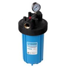"""Корпус фильтра ВВ для холодной воды 10"""" (кронштейн, манометр, латунные вставки)"""