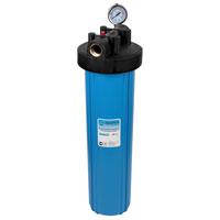 """Корпус фильтра Big Blue ВВ для холодной воды 20"""" (кронштейн, манометр, латунные вставки)"""
