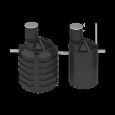 Система локальной очистки сточных вод ЛОС 5 (стандартное исполнение, 180град.)