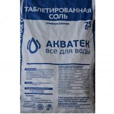 Соль таблетированная NaCl АКВАТЕК ,пр-во Россия (25кг)